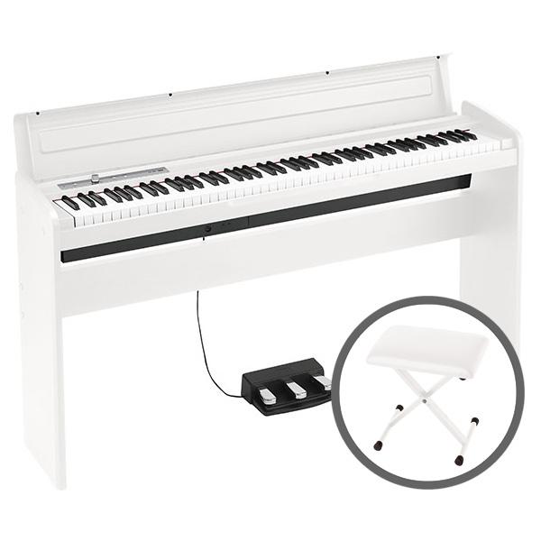 KORG コルグ / LP-180 WH 【椅子セット!】ホワイト 電子ピアノ【PNG】