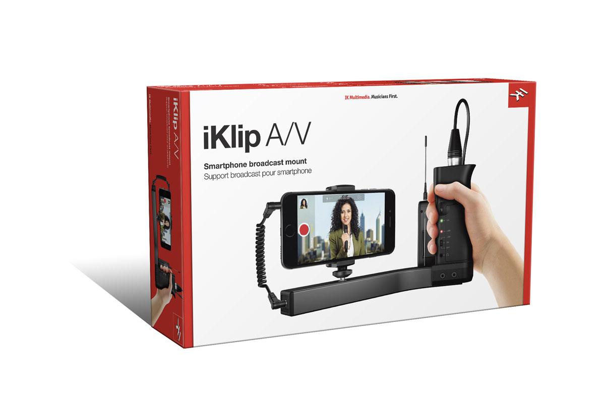 IK Multimedia IKマルチメディア / iKlip A/V iクリップ スマートフォン用グリップ【お取り寄せ商品】【WEBSHOP】