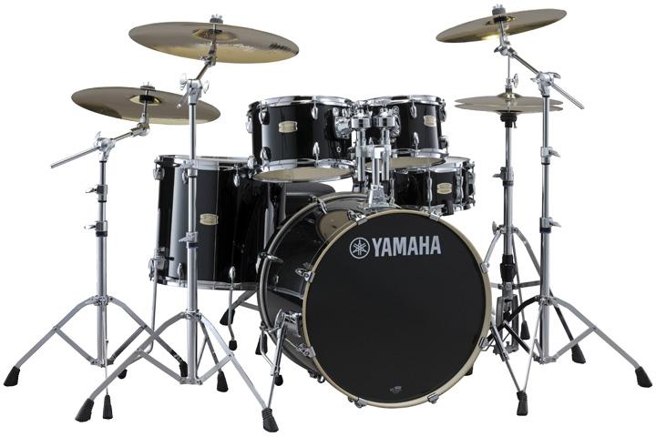 YAMAHA ステージカスタム ドラムセット SBP2F5S18-RB(レーベンブラック) 22BD/スタンダードセット+Sジルジャン3シンバルセット【YRK】