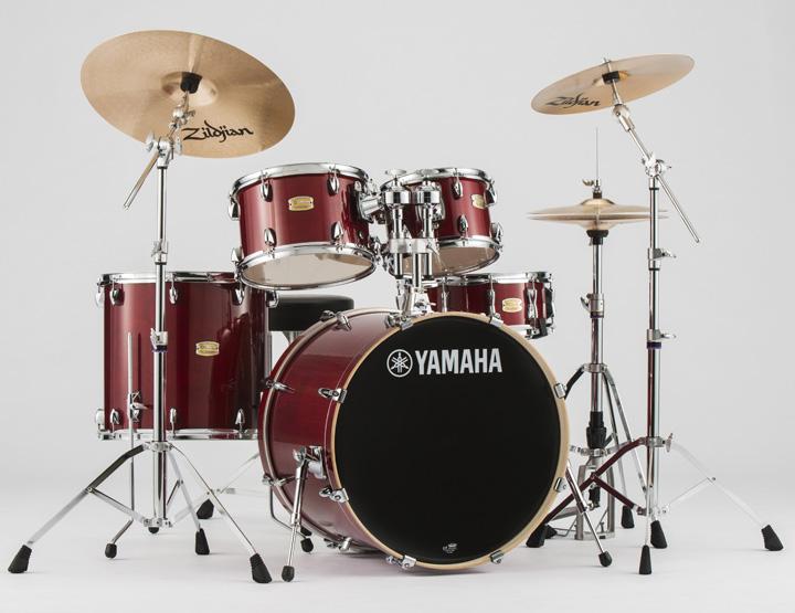 YAMAHA ステージカスタム ドラムセット SBP2F5S-CR(クランベリーレッド) 22BD/スタンダードセット+Sジルジャンシンバルセット【YRK】