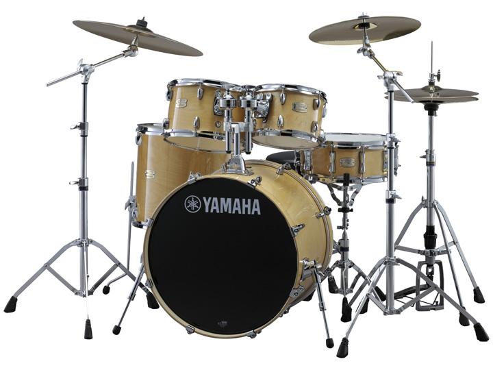 YAMAHA ステージカスタム ドラムセット SBP2F5S-NW(ナチュラルウッド) 22BD/スタンダードセット+Sジルジャンシンバルセット【YRK】