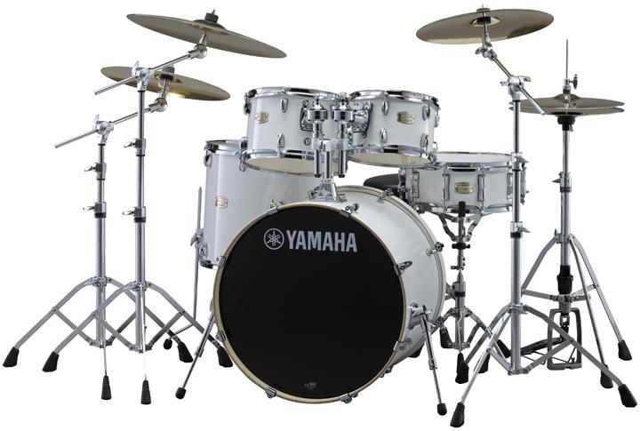 【タイムセール:29日12時まで】YAMAHA ステージカスタム ドラムセット SBP2F5S18-PW(ピュアホワイト) 22BD/スタンダードセット+Sジルジャン3シンバルセット【YRK】
