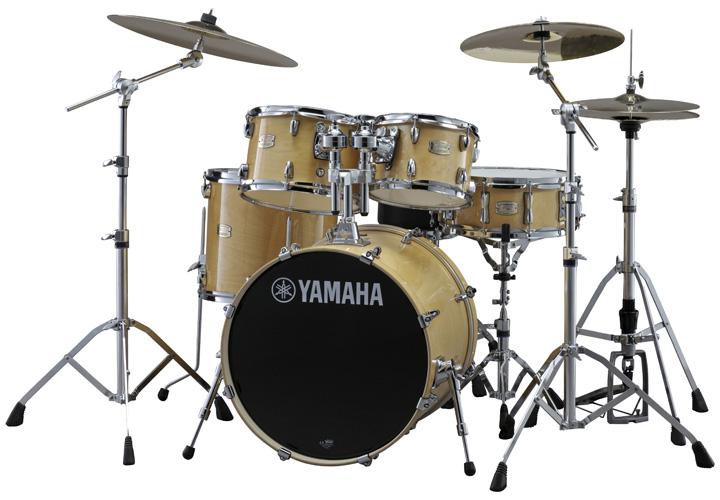 YAMAHA ドラムセット SBP0F5S-NWナチュラルウッド ステージカスタム 20BD/スタンダードセット+ジルジャン・S・シンバルセット【YRK】