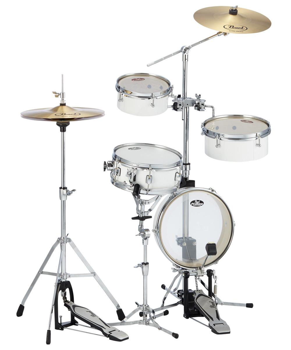 Pearl ドラムセット RT-5124N #33ピュアホワイト パール リムトラベラー・ライト