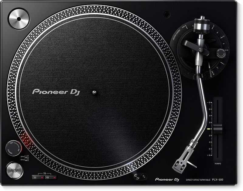 【在庫あり】PIONEER パイオニア / PLX-500-K ダイレクトドライブターンテーブル ブラック《Dr.Suzuki製スリップマットプレゼント:811162600》