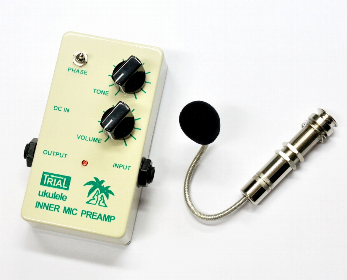 TRIAL / ukulele INNER MIC PREAMP ウクレレ コンデンサーマイク型 プリアンプ【お取り寄せ商品】【WEBSHOP】