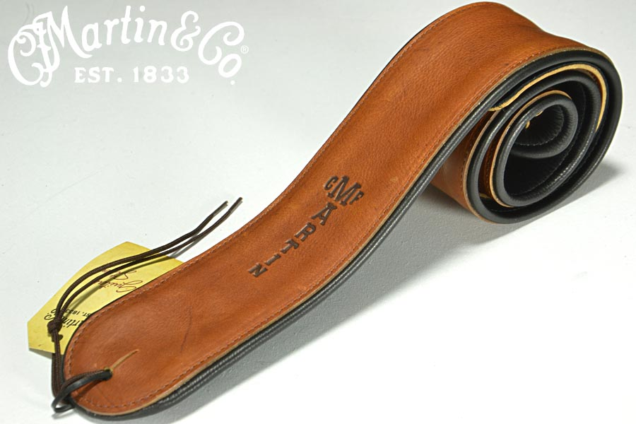 Martin マーチン / 18A0028 Premium Rolled Leather Guitar Strap Brown ストラップ