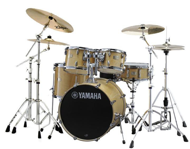YAMAHA ドラムセット SBP0F5S18-NWナチュラルウッド ステージカスタム 20BD/スタンダードセット+ジルジャン・S・3シンバルセットセット【YRK】