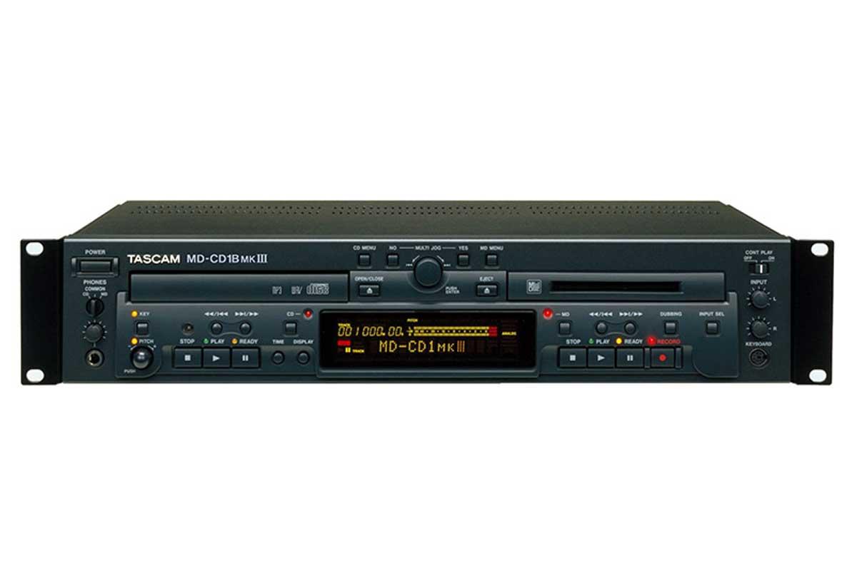 TASCAM タスカム / MD-CD1B MK3 業務用MDレコーダー/CDプレーヤー(アナログバランス入出力モデル)【お取り寄せ商品】