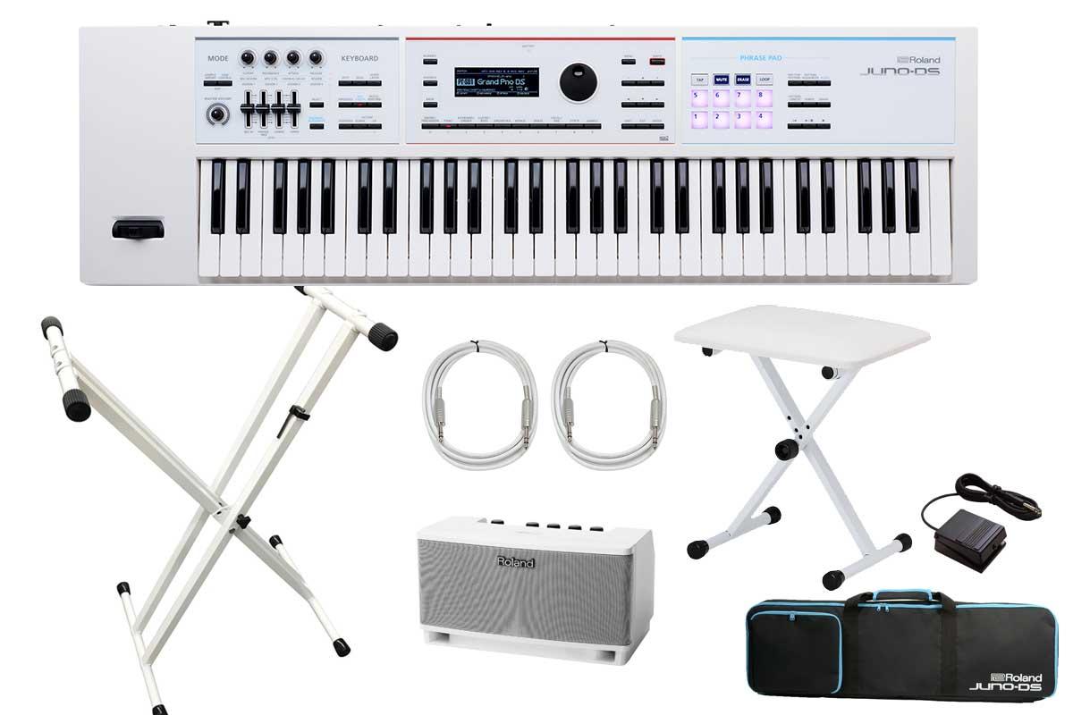 Roland ローランド / JUNO-DS61W シンセサイザー (JUNO-DSW) 【ホワイトオプションセット!】【YRK】《BLACKシリーズケーブルプレゼント:811171200×2》