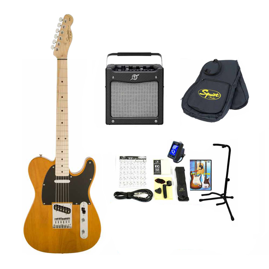 Squier by Fender / Affinity Telecaster Butterscotch Blonde Maple 【Fender MD-20アンプ14点セット】 スクワイヤー エレキギター