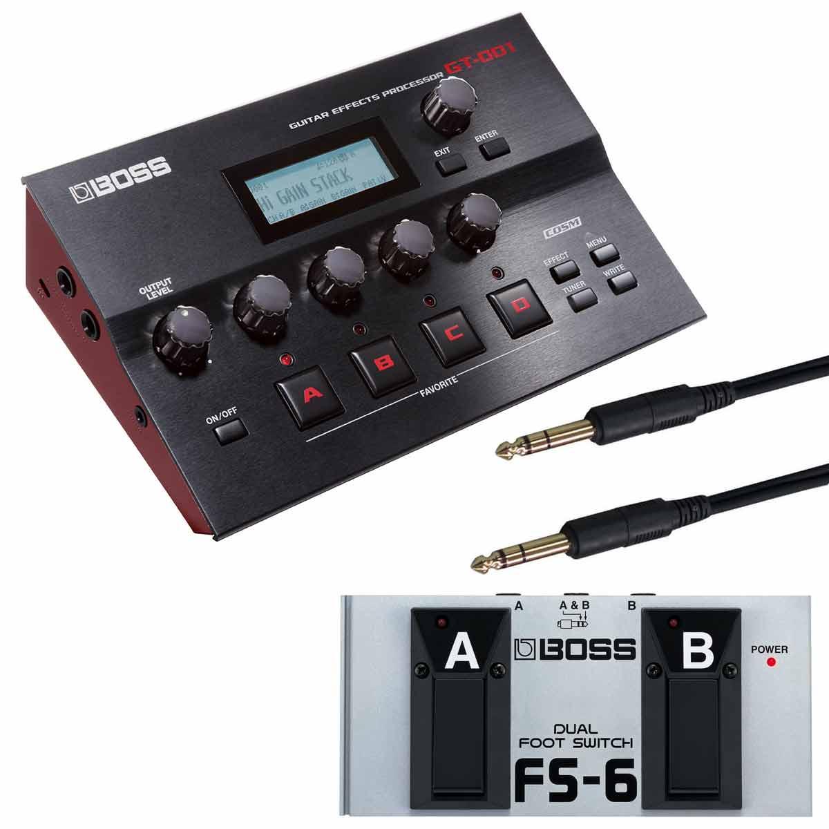 BOSS / GT-001 Guitar Effects Processor 【FS-6純正オプションフットスイッチセット】ボス マルチエフェクター【YRK】