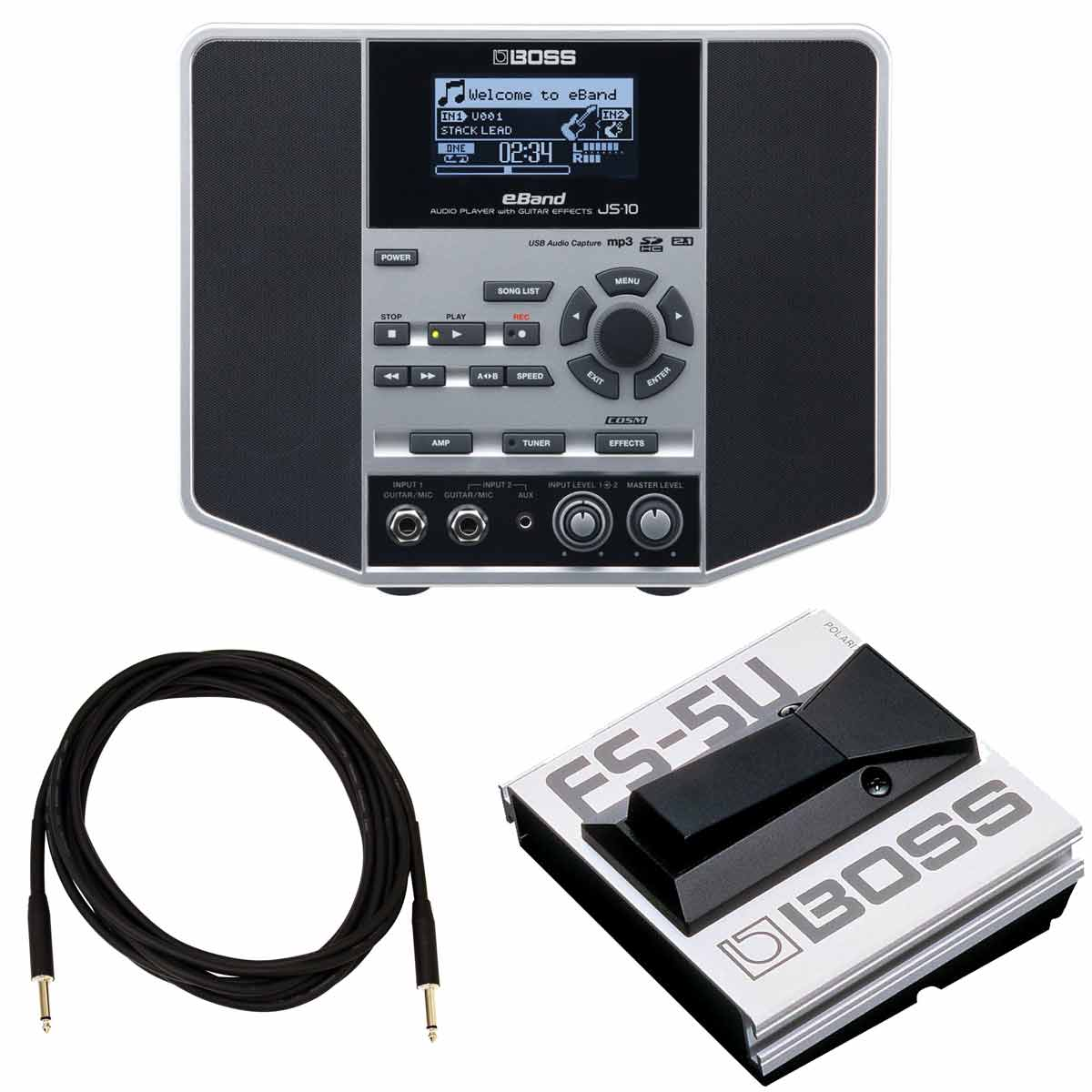 BOSS / eBand JS-10 【FS-5U純正オプションフットスイッチセット】 AUDIO PLAYER with GUITAR EFFECTS【YRK】
