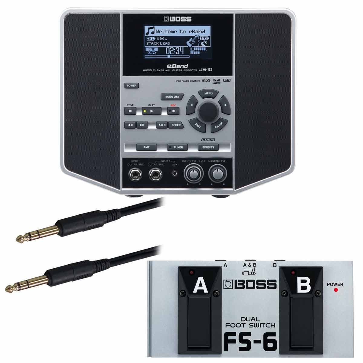BOSS / eBand JS-10 【FS-6純正オプションフットスイッチセット】 AUDIO PLAYER with GUITAR EFFECTS【YRK】