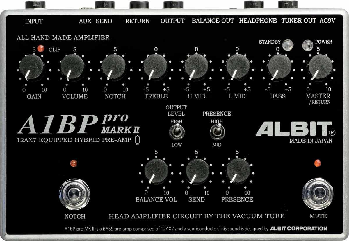 ALBIT / A1BP pro MARK II BASS PRE-AMP アルビット ベースプリアンプ 【お取り寄せ商品】