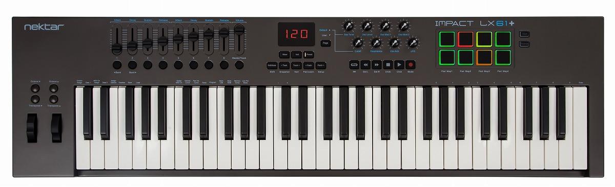 【在庫あり】Nektar Technology ネクターテクノロジー / Impact LX61+ USB MIDIコントローラー