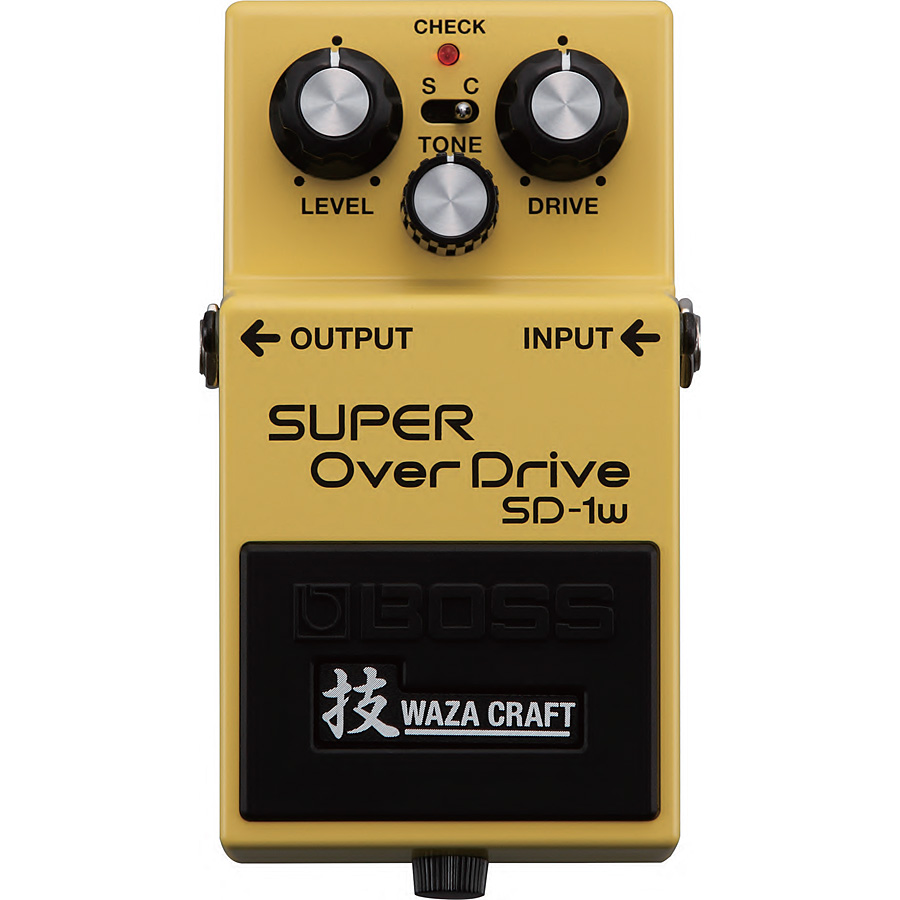 BOSS / SD-1W SUPER OverDrive 技 Waza Craft 台湾製【YRK】《9Vマンガン電池2個プレゼント!/+681215700×2》