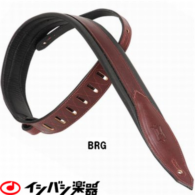 Levy's / Classic Padded Carving Leather Strap MSS80-BRG Burgundy 【★お取り寄せ】