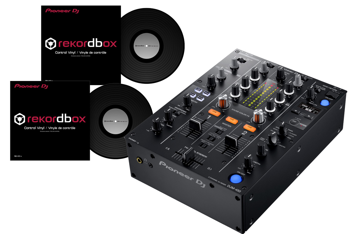 Pioneer パイオニア / DJM-450 【DVSセット!】 DJミキサー