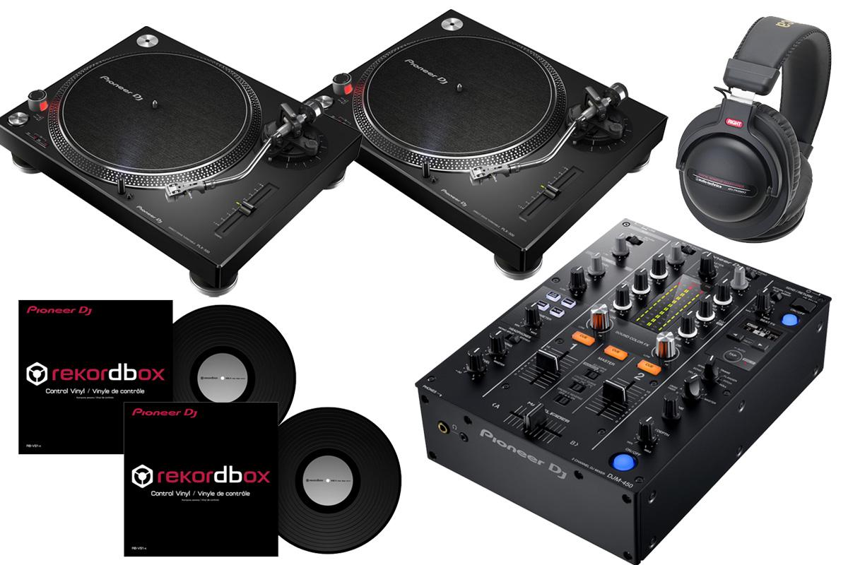 Pioneer パイオニア / DJM-450 + PLX-500 【DVSセット!】 DJミキサー【PNG】