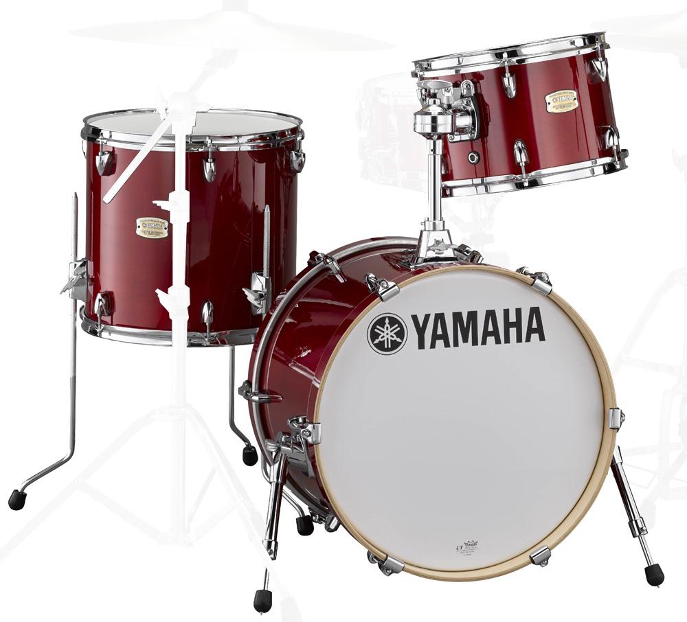 YAMAHA Bop-Kit SBP8F3CR ステージカスタム バーチ ドラムシェルキット 18BD 3点セット CRクランベリーレッド【YRK】