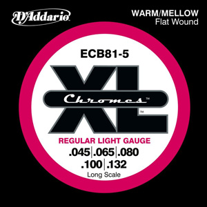 D'Addario / Chromes Flat Wound ECB81-5 Regular Light 45-132 Long Scale 5-Strings 【★お取り寄せ】