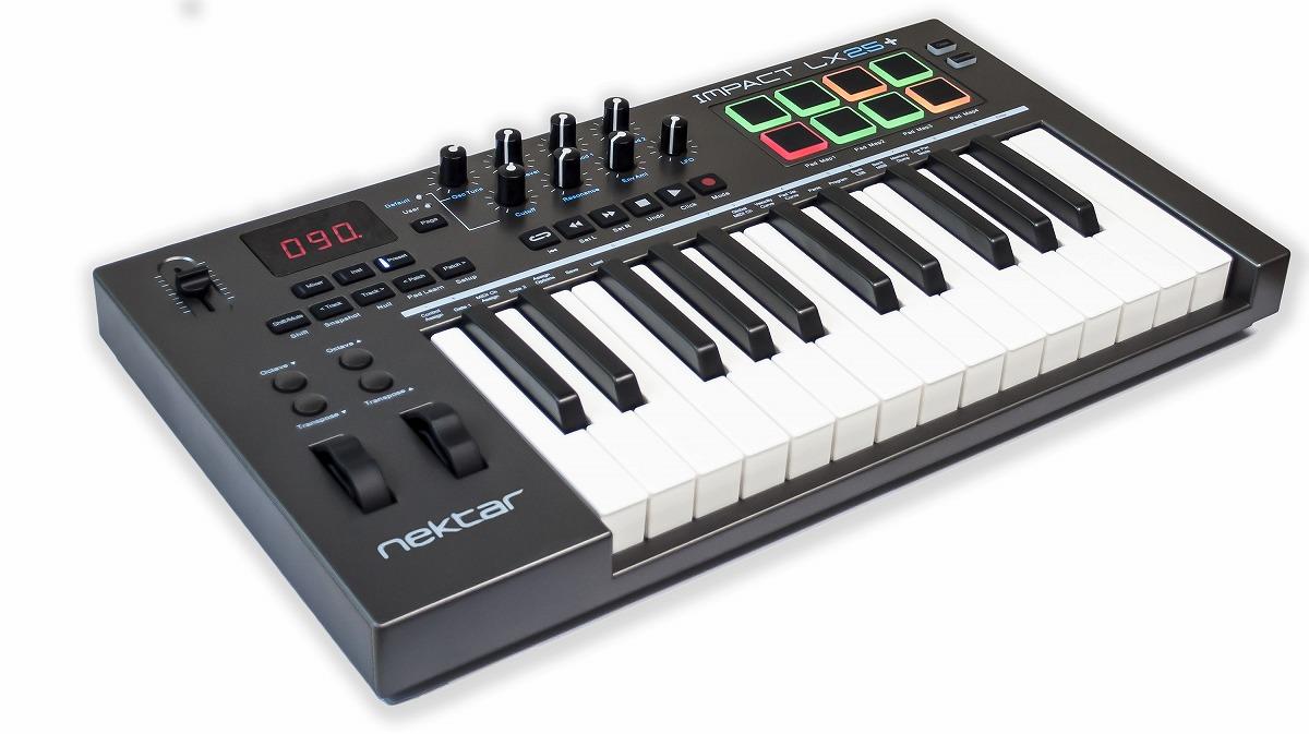 NEKTAR TECHNOLOGY ネクターテクノロジー / IMPACTLX25+ USB/MIDIキーボード【お取り寄せ商品】
