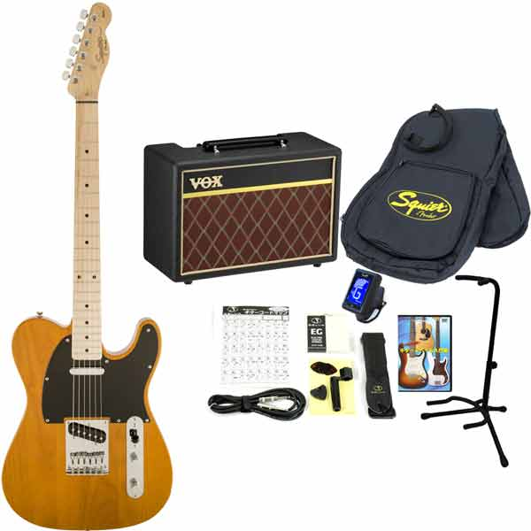 Squier / Affinity Telecaster Butterscotch Blonde Maple スクワイヤー エレキギター 【VOXアンプ&小物セット】 入門 初心者