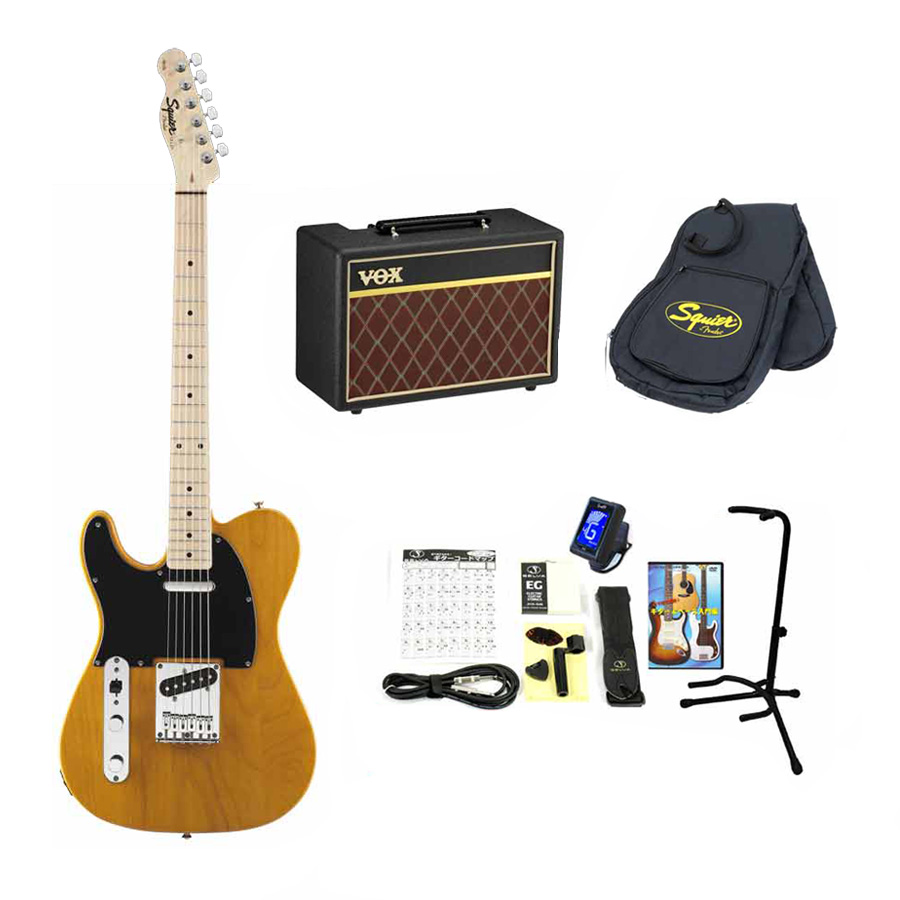 Squier / Affinity Telecaster Left-Hand Butterscotch Blonde Maple スクワイヤー エレキギター 【VOXアンプ&小物セット】 入門 初心者