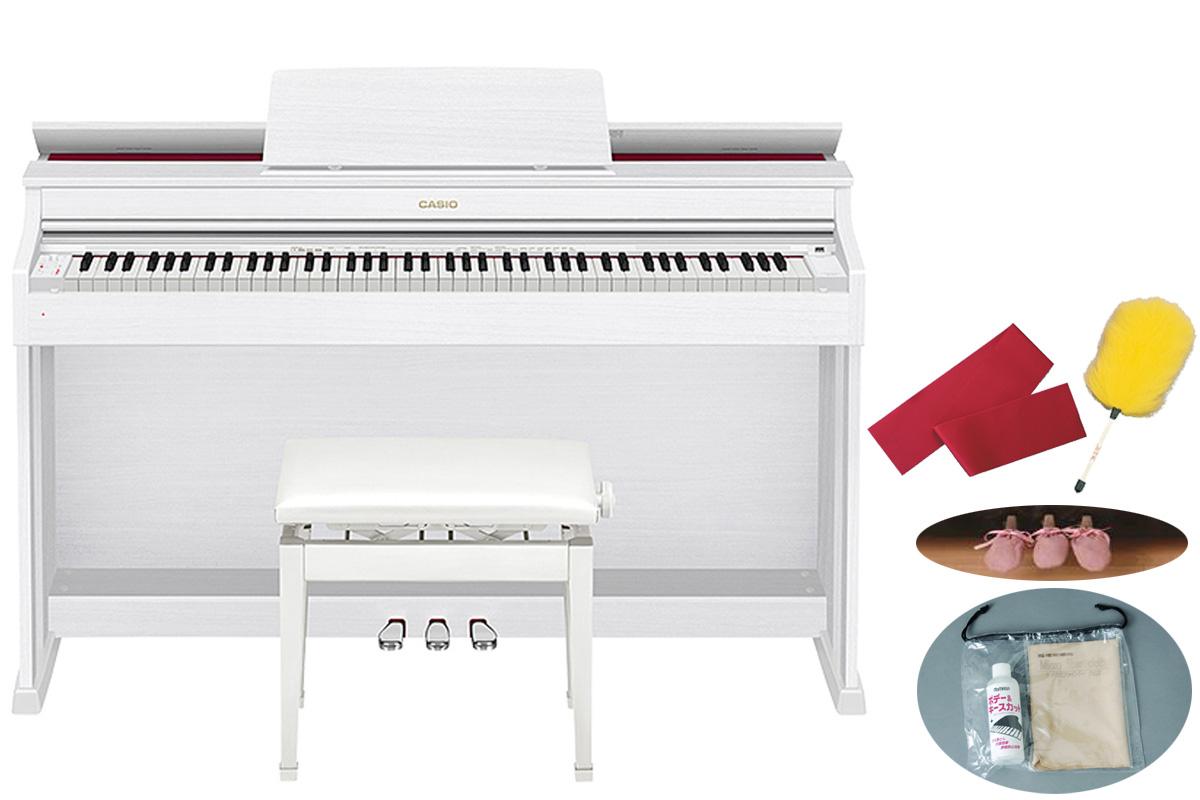 CASIO カシオ / CELVIANO AP-470WE ホワイトウッド調仕上げ 【代引き不可】【全国組立設置無料】【安心のメーカー3年保証】 電子ピアノ セルヴィアーノ【お手入れセットプレゼント:set78332】
