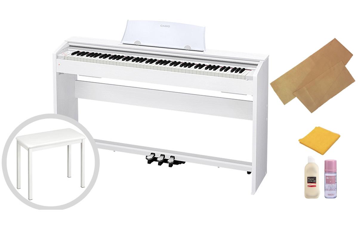 CASIO カシオ / Privia PX-770WE 電子ピアノ ホワイトウッド調仕上げ【椅子セット!】【代引き不可】【全国組立設置無料】電子ピアノ プリヴィア【お手入れセットプレゼント:set78331】
