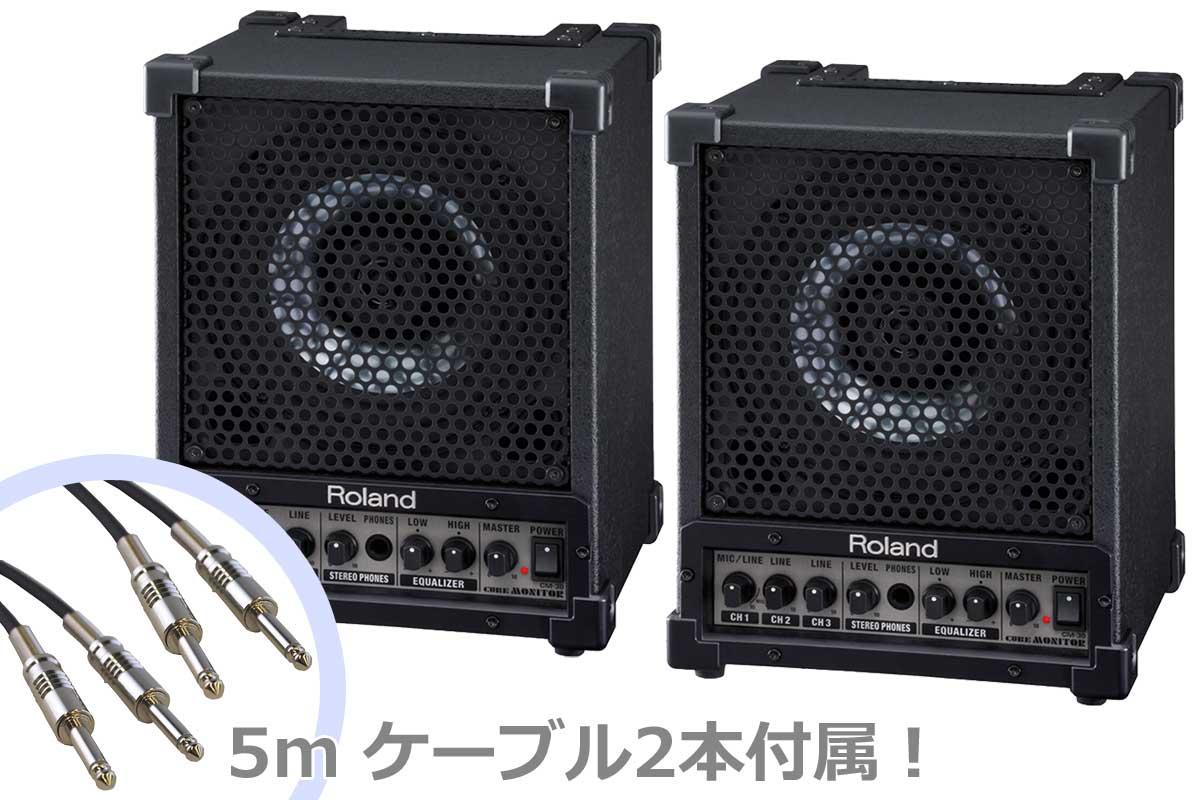 Roland ローランド / CM-30 【2台セット!】 Cube Monitor モニターアンプ (CM30)【YRK】