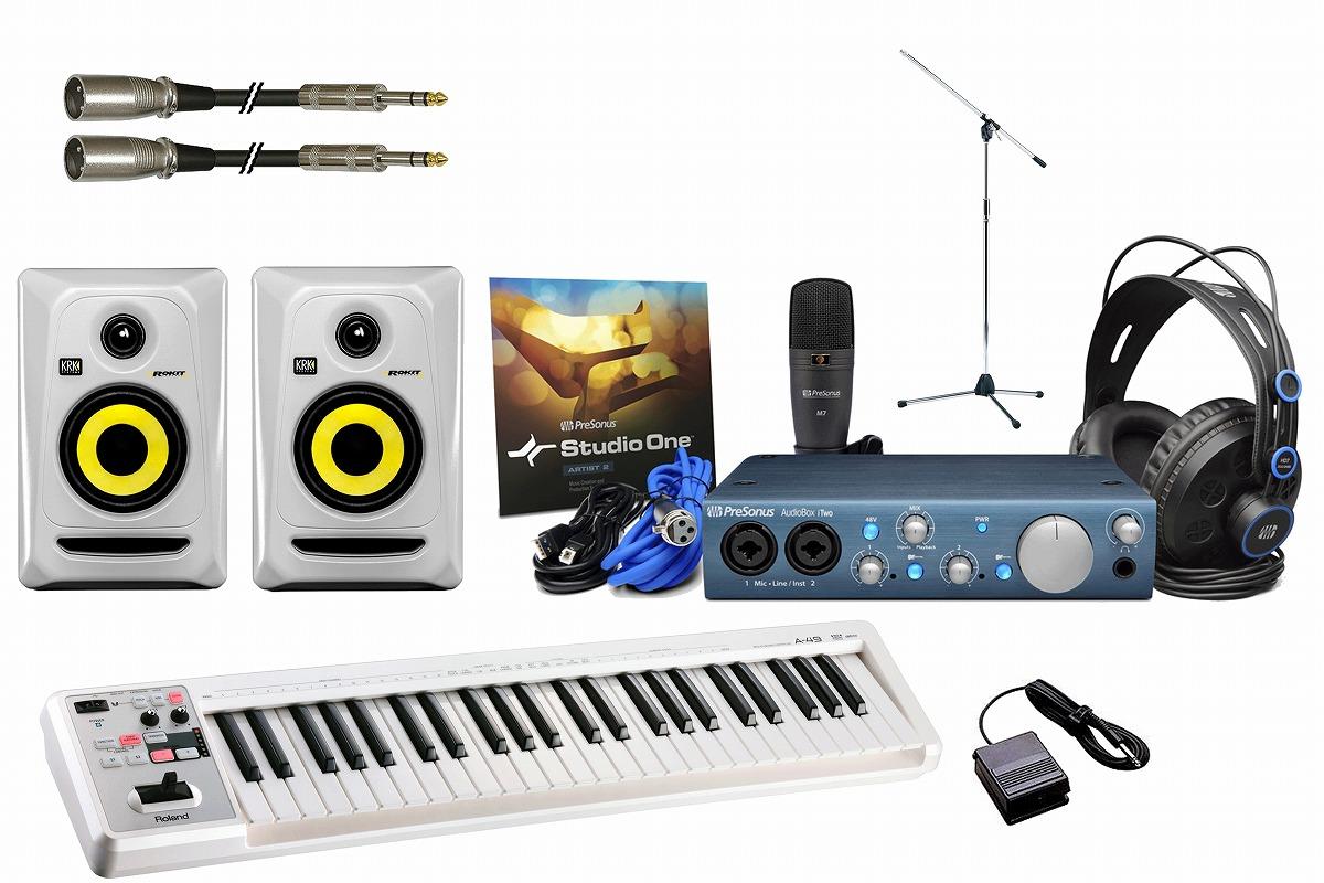 PreSonus プリソーナス / AudioBox iTwo STUDIO 【ホワイトカラー豪華オプションセット!】