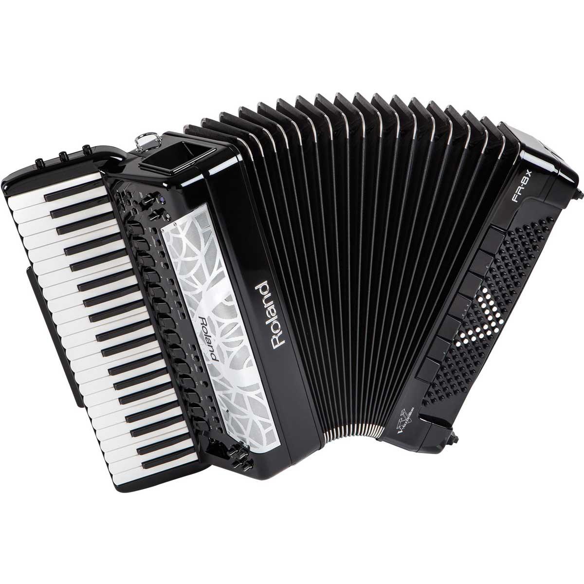 Roland ローランド / V-Accordion FR-8X BK ブラック Vアコーディオン ピアノ鍵盤タイプ【お取り寄せ商品】《納期別途ご案内》【YRK】