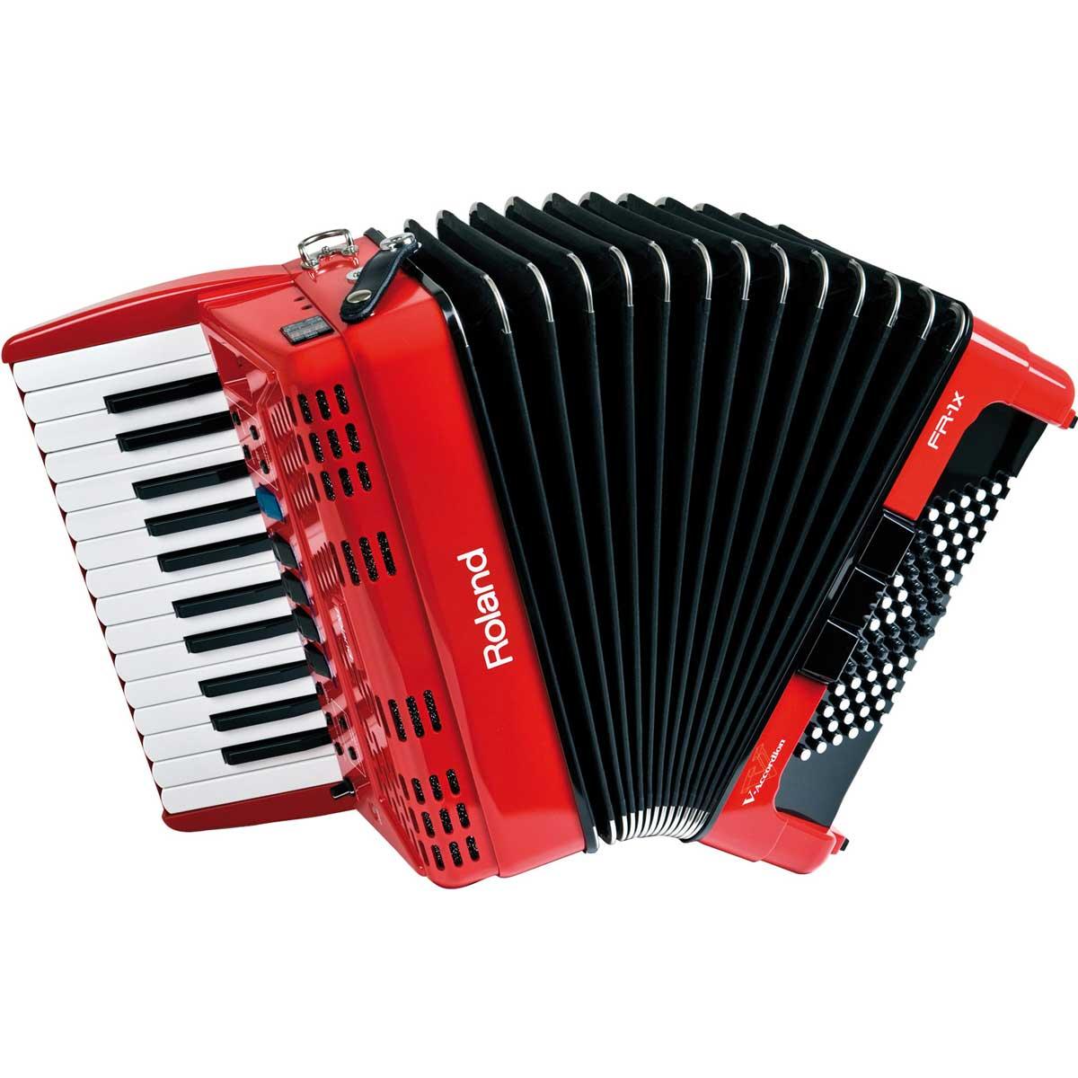 Roland ローランド / V-Accordion FR-1X RD レッド Vアコーディオン ピアノ鍵盤タイプ【お取り寄せ商品】【YRK】