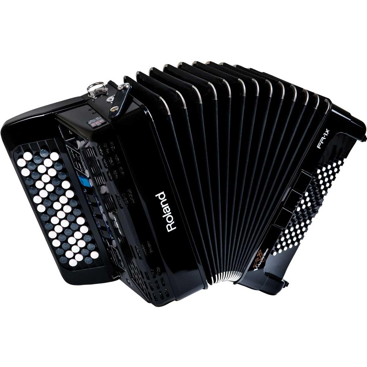 Roland ローランド / V-Accordion FR-1XB BK ブラック Vアコーディオン ボタン鍵盤タイプ【お取り寄せ商品】《納期別途ご案内》【YRK】
