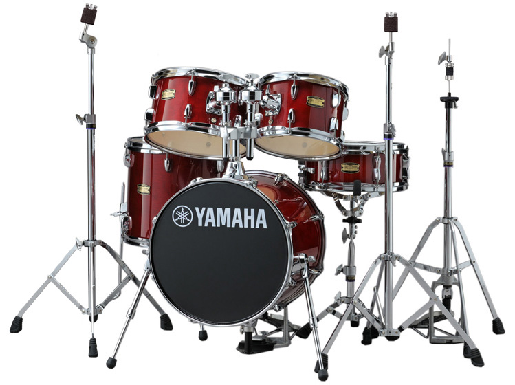 YAMAHA ドラムセット JK6F5CR + HWJK ヤマハ ジュニアキット スタンド類/フットペダル一括セット CRクランベリーレッド【YRK】