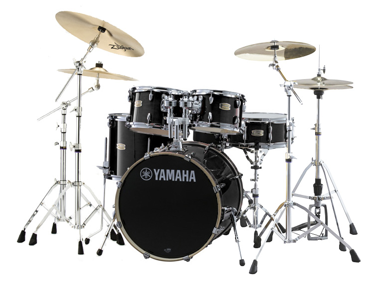 YAMAHA ドラムセット SBP0F5ZBT18-RBレーベンブラック ステージカスタム 20BD/スタンダードセット+ジルジャンZBT 3シンバルセット【YRK】