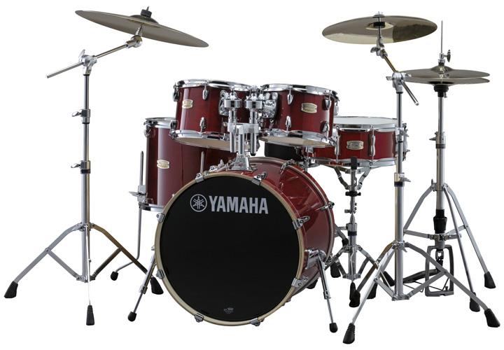 YAMAHA SBP0F5ZBT CRクランベリーレッド ヤマハ ステージカスタム ドラムセット 20BD/スタンダードセット+ZBTシンバルセット【YRK】