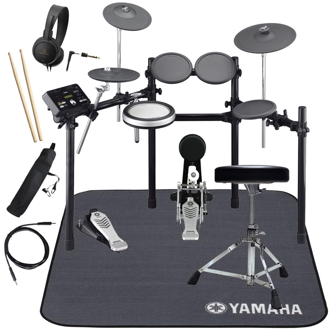 【タイムセール:30日12時まで】YAMAHA 電子ドラム DTX522KFS ドラムマットDM1314 スターターパック【YRK】