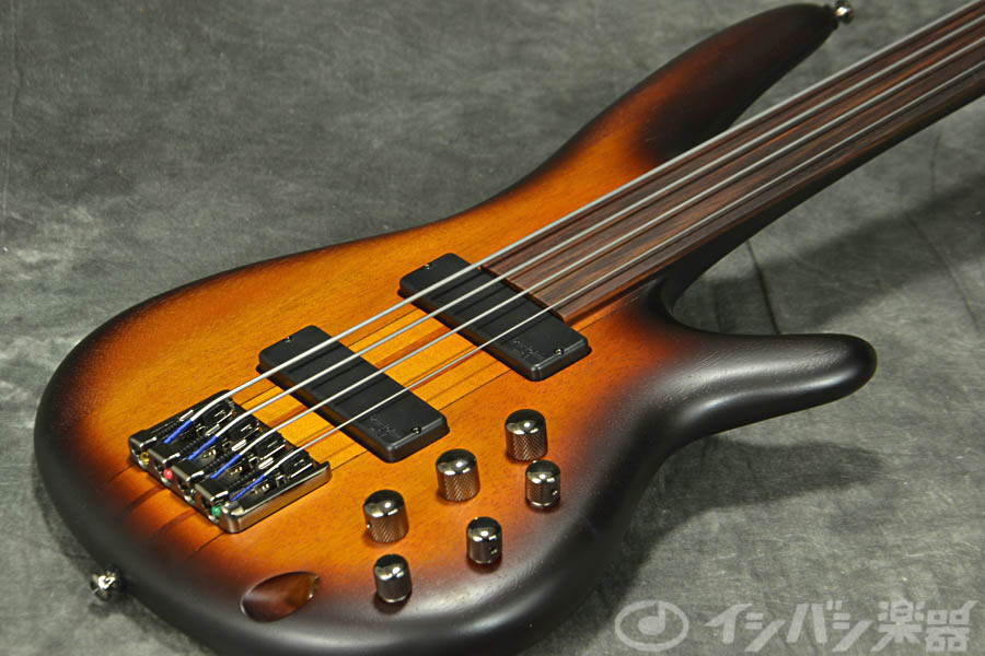Ibanez アイバニーズ / Bass Workshop SRF700-BBF Brown Burst Flat【フレットレスベース】《フレットラッププレゼント!!/+811183400》