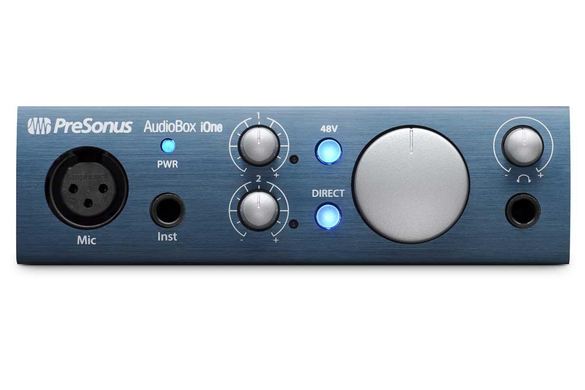 PreSonus プリソナス / AudioBox iOne (バスパワー駆動USB 2.0/iPadオーディオ・インターフェース)【お取り寄せ商品】