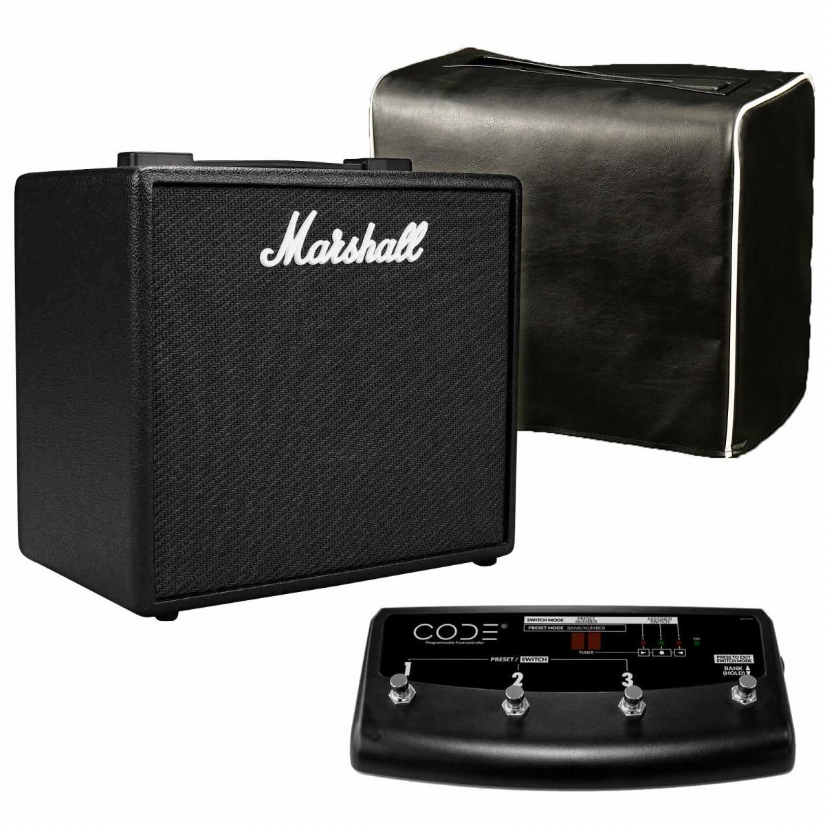 Marshall / CODE25 + PEDL91009【オリジナルカバー&専用スイッチ付きセット】 マーシャル コード フルモデリングアンプ【YRK】
