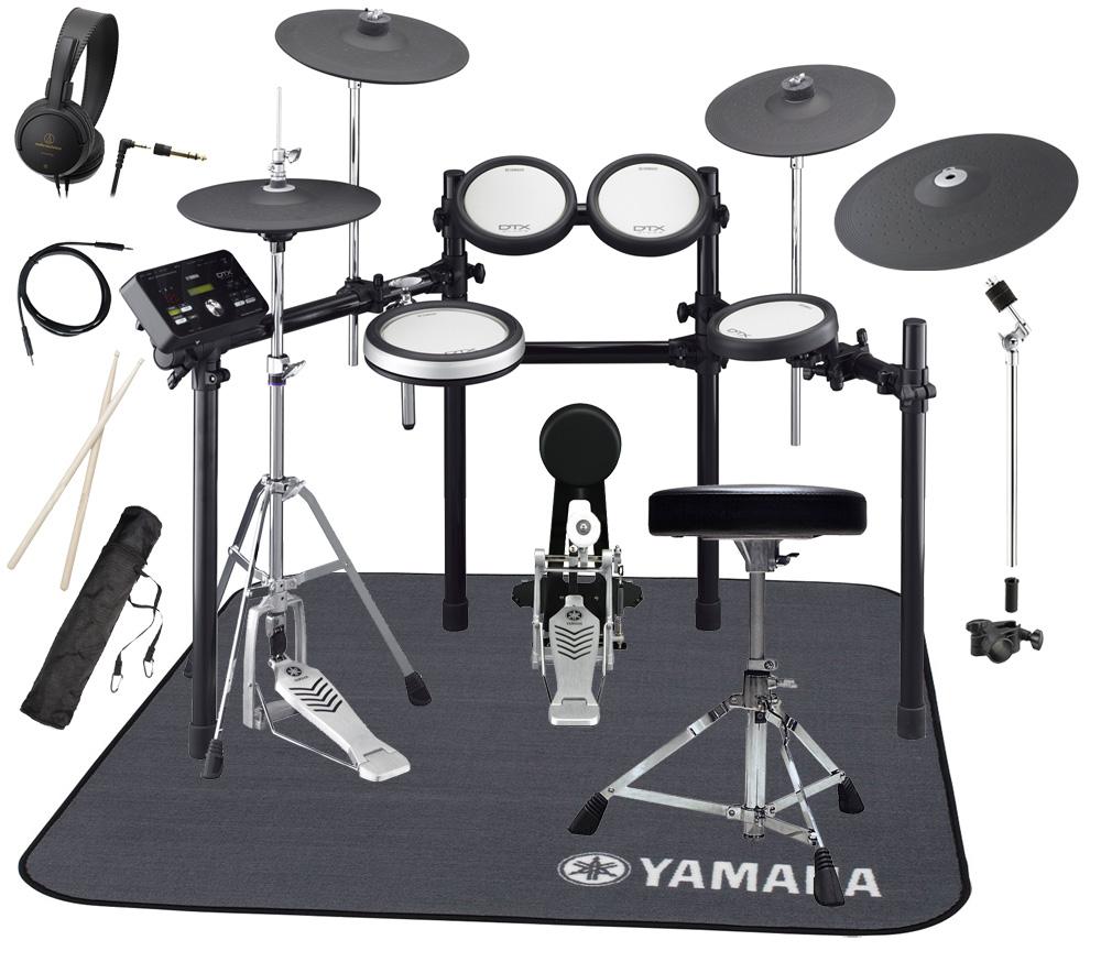 YAMAHA 電子ドラム DTX562KFS 3シンバル/PCY155増設 純正マットDM1314付きスターターパック【YRK】