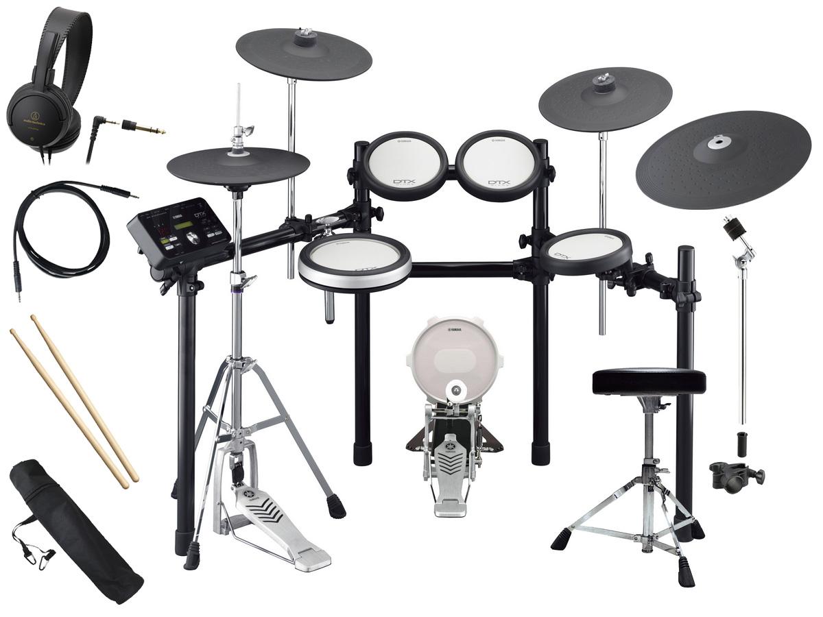 YAMAHA 電子ドラム DTX582KFS 3シンバル/PCY155増設 スターターパック付き【YRK】