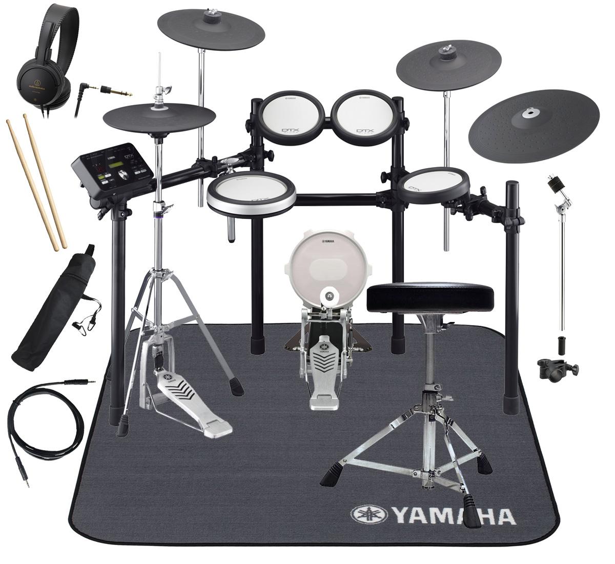 YAMAHA 電子ドラム DTX582KFS 3シンバル/PCY155増設 ドラムマットDM1314付き スターターパック【YRK】