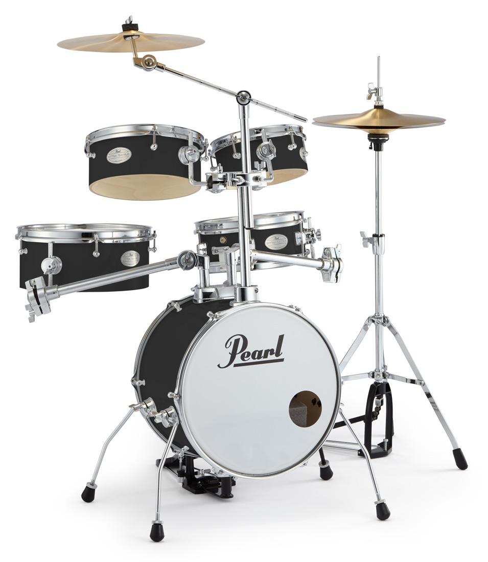 Pearl 小型 ドラムセット RT-645N/C 31-ジェットブラック パール リズムトラベラー Version 3S