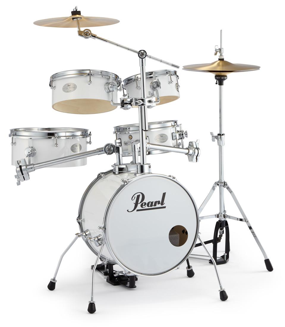 Pearl 小型 ドラムセット RT-645N/C 33-ピュアホワイト パール リズムトラベラー Version 3S