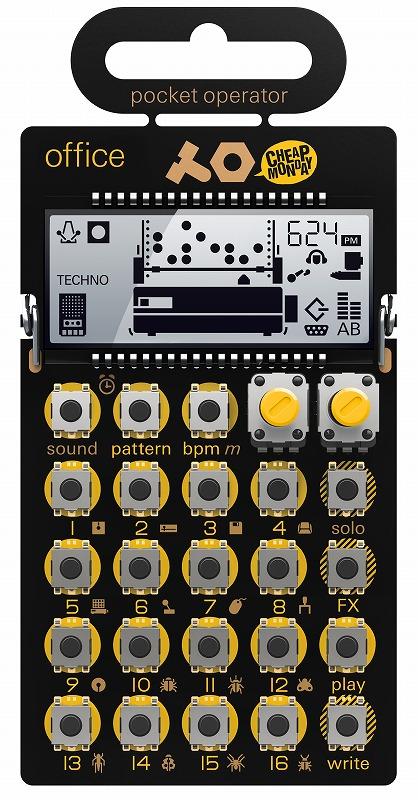 TEENAGE ENGINEERING ティーンエイジ・エンジニアリング / POCKET OPERATOR PO-24 office ポケットシンセサイザー