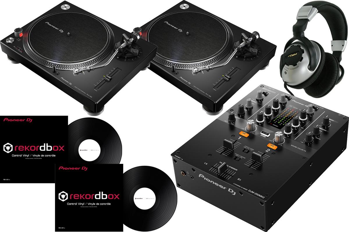 Pioneer パイオニア / DJM-250 MK2 + PLX-500 【DVSセット!】 DJセット【お取り寄せ商品】《Dr.Suzuki製スリップマットプレゼント:811162600x2》